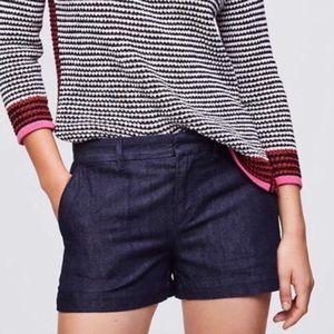 Loft dark blue denim riviera shorts